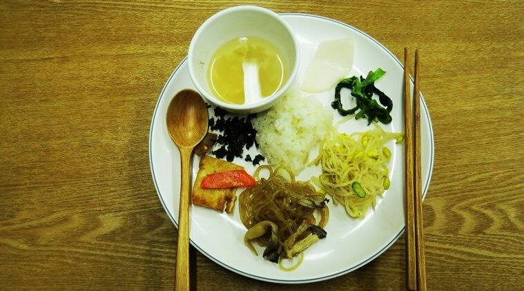 A plate of 'sattvik' traditional Korean food available at the many temple stays. (Photo: Shruti Chakraborty)