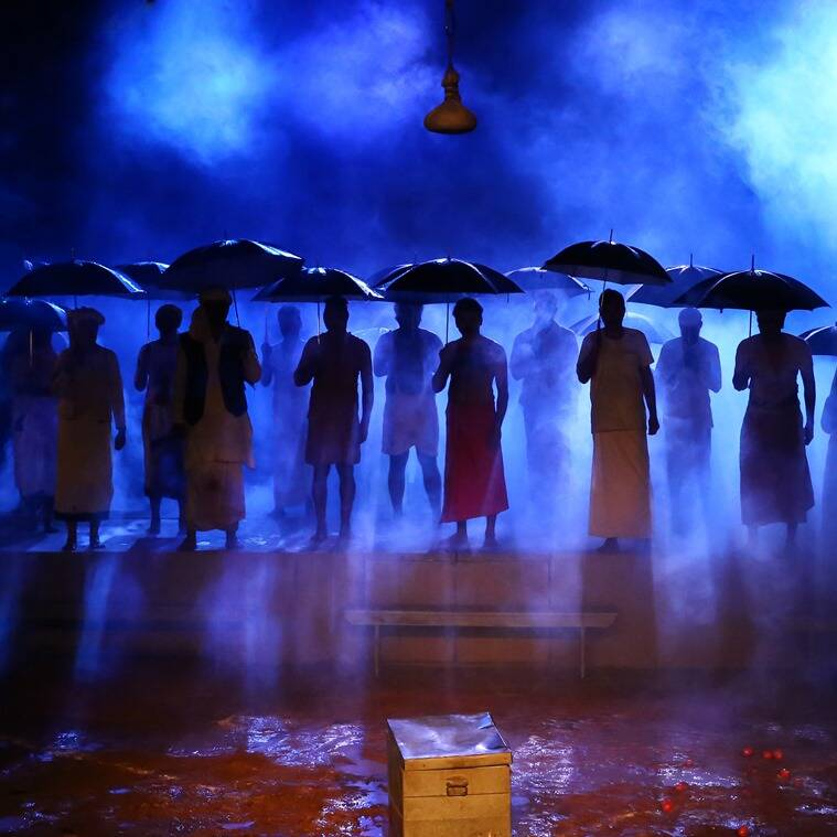 A scene from the spectacular production at Kodungallur.