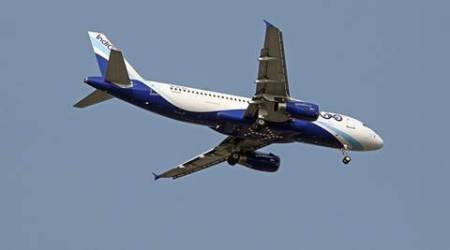 Indigo Aircraft. Express Photo by Kamleshwar Singh
