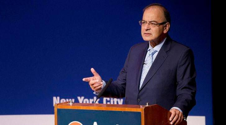 Finance Minister Arun Jaitley at the Asia Society, New York on Monday (AP/PTI)