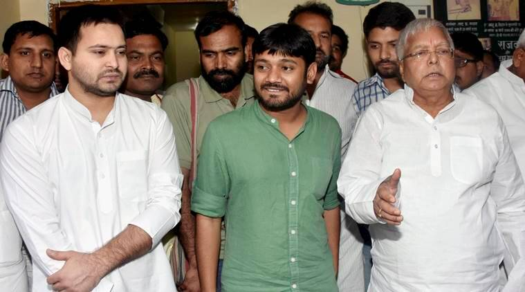 Kanhaiya Kumar, JNU, JNU row, JNUSU, JNUSU president, JNUSU president Kanhaiya Kumar, Kanhaiya Kumar in Patna, Kanhaiya Kumar in Bihar, Nitish Kumar, Lalu Prasad, RJD, Kanhaiya, Kanhaiya meets Nitish and Lalu, Bengusarai, Satrughan Sinha, Bihar assembly poll, PM narendra modi, india news