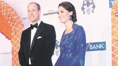 At charity gala, Kate dazzles amid stars from Bollywood