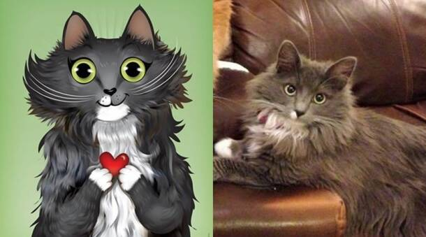 These pet illustrations depict their personalities rather accurately