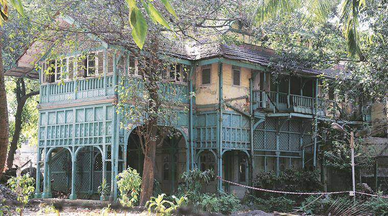 The most visible link of Rudyard Kipling to Mumbai is this green painted wooden cottage.  Express Photo by Dilip Kagda Mumbai 16/04/2016