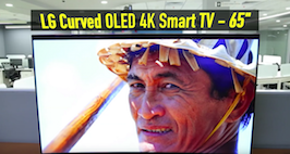 LG Curved OLED 4K Smart TV Video Review