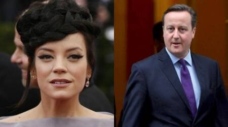 Lily Allen joins protest against David Cameron