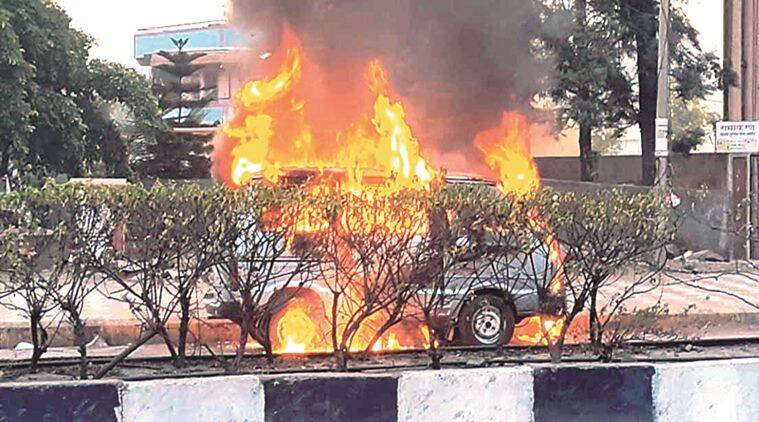 A youth committed suicide by setting himself on fire in a van on the Pune – Saswad road near the Gliding Center in Hadapsar on Saturday morning.
