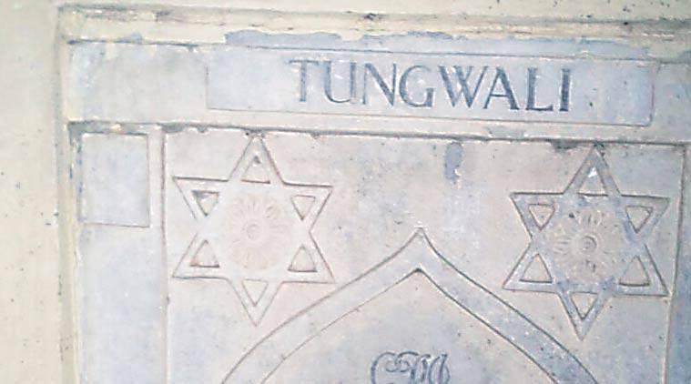 The memorial for martyrs from Tungwala village in World War I.  Express