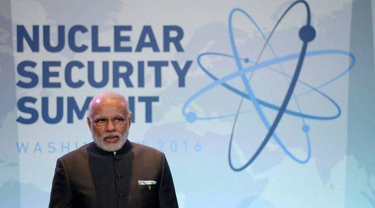 Prime Minister of India Narendra Modi arrives for a bilateral meeting with Canadian Prime Minister Justin Trudeau (not pictured) at the Nuclear Security Summit, Friday, April 1, 2016, in Washington. (Sean Kilpatrick/The Canadian Press via AP) MANDATORY CREDIT(AP4_1_2016_000196A)