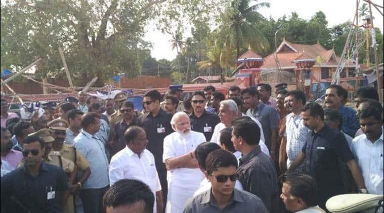 kollam, modi, narendra modi in kollam, kollam temple fire, kerala temple fire, temple fire kerala, kerala news, india news, latest news