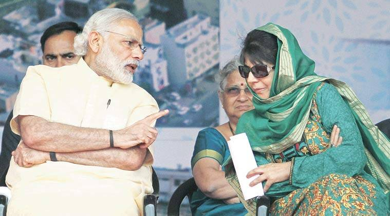 mehbooba mufti, narendra modi, pm narendra modi, mehbooba meets modi, mehbooba mufti narendra modi meeting, mehbooba meets pm, kashmir unrest mehbooba mufti, pm narendra modi on kashmir, kashmir issue, kashmir curfew, burhan wani, hizbul mujahideen, mehbooba mufti on burhan wani, india news, kashmir news, latest news, breaking news