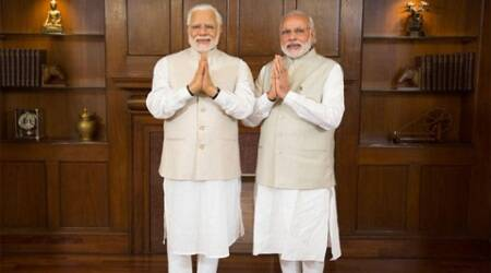 Modi gets a visitor — his wax twin