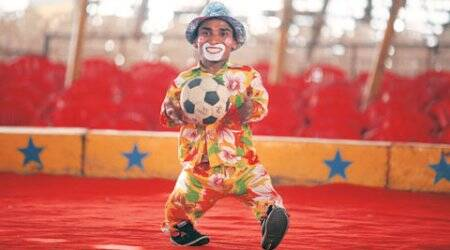 Just for laughs: Day in the life the 'joker' at a Circus inmohali