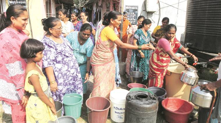 BMC, mumbai water, mumbai water crisis, mumbai water problem, water tankers in mumbai, indian express mumbai