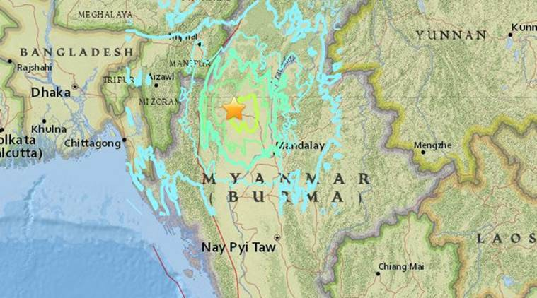 Tremors were felt in parts of Kolkata, Guwahati, Patna, Bhubaneswar and, also, Delhi. Myanmar earthquake, earthquake myanmar, kolkata earthquake, earthquake kolkata,