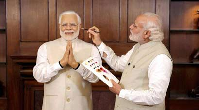 Narendra Modi's wax statue for Madame Tussauds unveiled