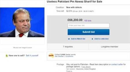 nawaz sharif, Shahbaz sharif, nawaz sharif ebay, ebay nawaz sharif, sharif on ebay, pakistan pm, pakistan pm on ebay, pakistan news