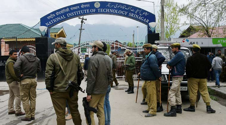 nit srinagar, srinagr nit, nit srinagar tension nit srinagar violence, Jammu and Kashmir, Mehbooba mufti, kashmir students, nit srinagar student clashes, hrd ministry, smriti irani nit srinagar, nit srinagar out station students, nationalism debate, kashmir news, education news, india news, J&K news, latest news