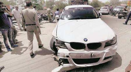 Four injured after speeding BMW rams them near Noida stadium