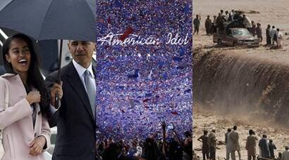 Barack Obama, Barack Obama Daughter, Barack Obama Daughter Malia, Barack Obama Malia pics, American Idol, American Idol Winner, American Idol Finale, American Idol pics, Heavy Rains in Peshawar, Floods in Peshawar, Top Frames, Indian Express