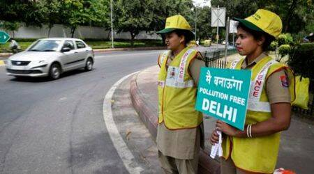 Air quality in Delhi: high temperature spikes ozone, pollution higher than in April '15