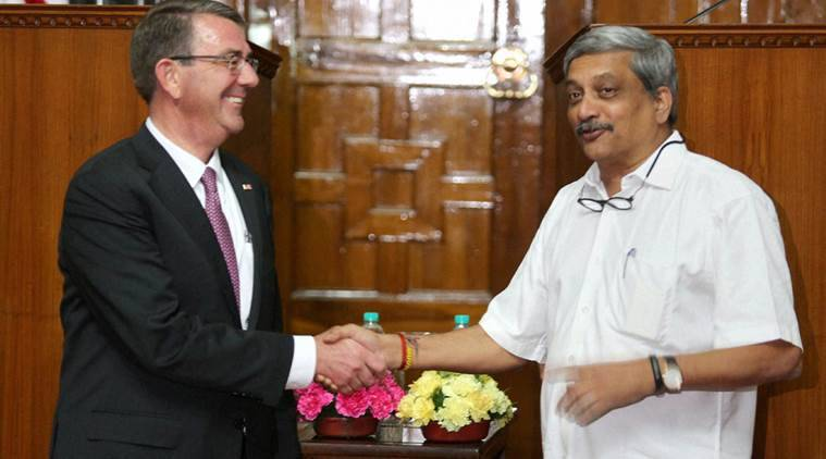 india, us, india us ties, indo us ties, india us defence ties, defence ties india us, ashton carter, manohar parrikar, international relations
