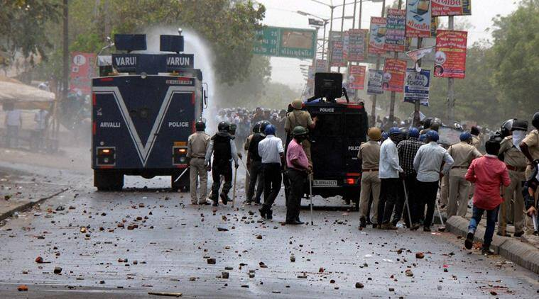 6 hurt in stone-pelting Varanasi, Varanasi stone pelting clash, Sigra police station , wall of a mosque damaged rumor Varanasi, Lucknow News, Indian Express News