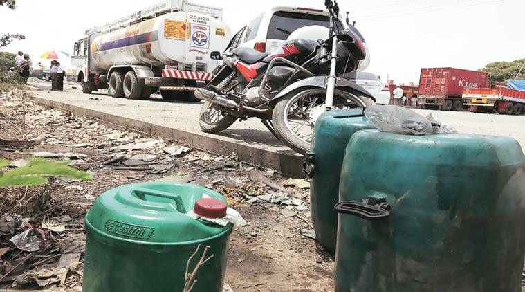 adulterated petrol, fuel crisis, Loni Kalbhor terminal , petrol crisis, vehicle tracking system, ethanol blending device, pune news