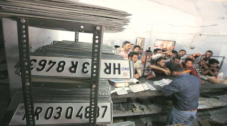 Number plates, Number plates e-auction, poor response, e-auction, fancy number plates, Chandigarh, Chandigarh news, latest news, Indian express