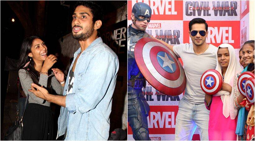varun dhawan, prateik babbar, emraan hashmi, captain america, prachi desai, varun dhawan pics, prateik babbar girlfriend, prateik babbar girlfriend pics, entertainment news