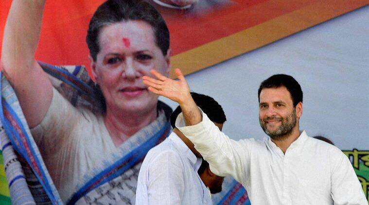 Niyamatpur: Congress Vice President Rahul Gandhi waves his hand towards the supporters during his first election campaign jointly with Left Front parties ahead of State Assembly polls in Niyamatpur on Saturday. PTI Photo