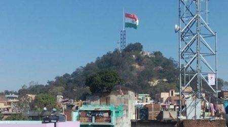 Ranchi: Stuck for 10 days, largest Tricolour brought down