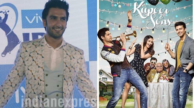 Ranveer Singh, Kapoor & Sons, Kapoor & Sons cast, Kapoor & Sons news, Ranveer Singh Kapoor & Sons, Ranveer Singh film, Ranveer Singh news, entertainment news