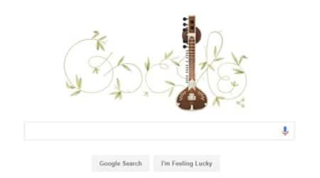 ravi shankar, pandit ravi shankar, google, google doodle, ravi shankar birthday, pandit ravi shankar birthday, google doodle ravi shankar, google doodle today, ravi shankar video, ravi shankar sitar, ravi shankar concert