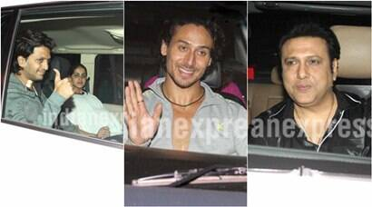 Baaghi special screening: Tiger Shroff, Riteish, Genelia