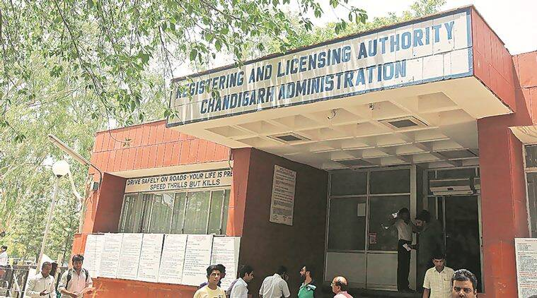 A view of office of Regional Licencing Authority in Sector 17 of Chandigarh. Express photo