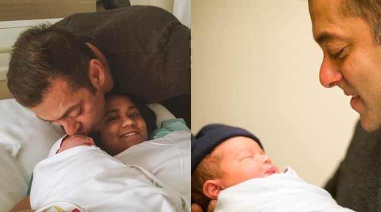 Salman Khan Poses With Sister Arpitas Newborn Baby Ahil