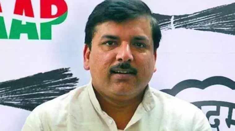 AAP leader Sanjay Singh.