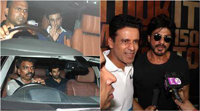 Shah Rukh Khan meets Manoj Bajpayee; Ranbir Kapoor, Aditya party with Karan Johar