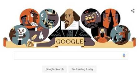 Google doodle celebrates the work of British bard William Shakespeare