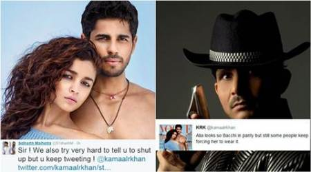 "Actor Sidharth Malhotra reacted strongly when Kamaal R Khan made a derogatory comment about his ""Kapoor & Sons"" co-star Alia Bhatt recently. And now the actor says that he is open for criticism for his films, but not if someone gets personal and cheap."