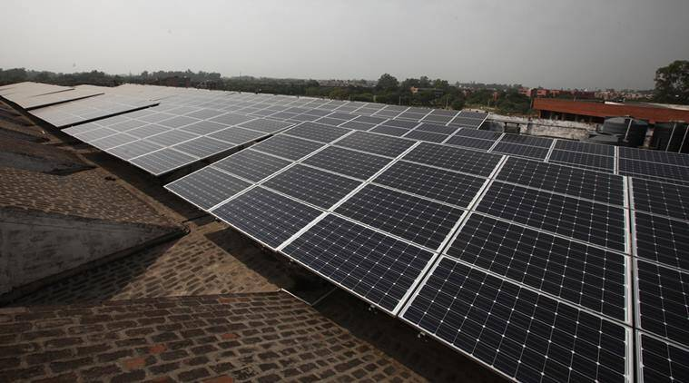 Solar Power, India solar energy, Power Minster Piyush Goyal, Piyush Goyal, Phelan Energy, Narendra Modi, Bhadla solar park, indian express news
