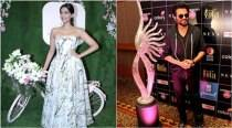Sonam launches her app, dad Anil busy with IIFA