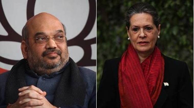 kerala assembly elections 2016, kerala elections, Kerala polls, Amit Shah, Sonia gandhi, BJP President Amit Shah, Congress president Sonia Gandhi, BJP, Congress, Agustawestland deal, National herald case, @2G scam, india news