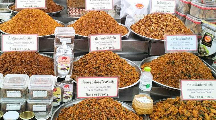 Spices and condiments at the Or Tor Kor market. (Photo: Ashwin Rajagopalan)