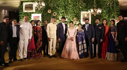 sreeja, sreeja reception, sreeja recpetion pics, sreeja marriage, chiranjeevi, chiranjeevi sreeja, chiranjeevi daughter, allu arjun, ram charan teja, venkaiah naidu, chandrababu naidu, aravind swami, rakulpreet, radhuka sarathkumar, sreeja wedding recpetion pics, entertainment