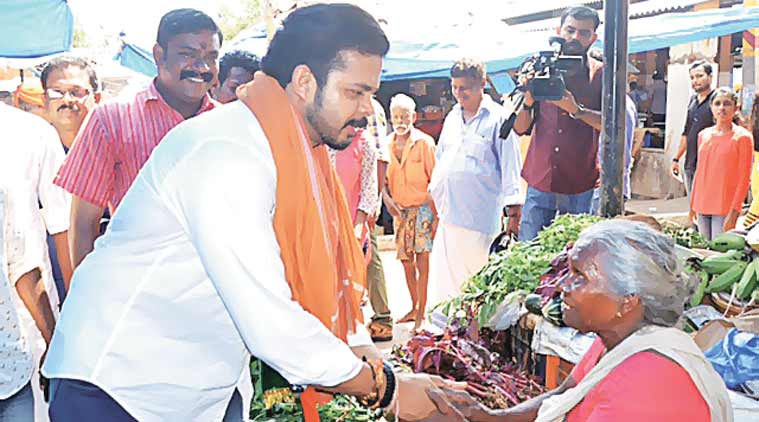 Sreesanth, BJP, Kerala, elections, Sreesanth BJP, Sreesanth Kerala BJP, Sreesanth Kerala elections, Sreesanth BJP Kerala, BJP KErala elections, BJP news, Kerala news, India news