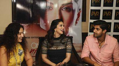 Sunny Leone promotes 'One Night Stand' with co-actor Tanuj Virwani