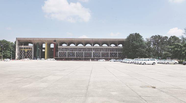 a view of Capitol Complex in Chandigarh, one of the possible venue for PM to perform Yoga. Express photo