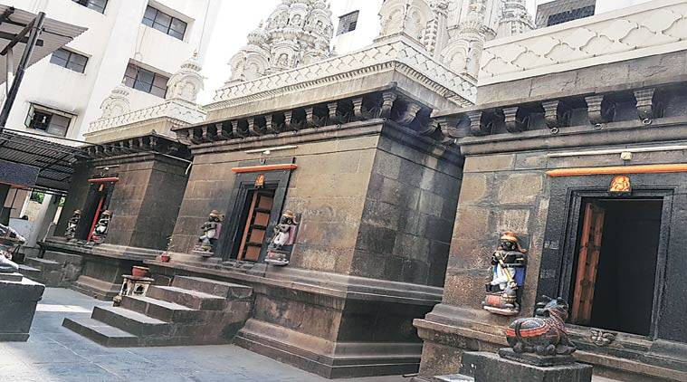 Three beautifully carved stone temples in the society's complex date back to 1640.